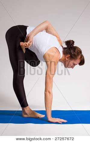 set of young attractive yoga girl doing exericise. 9 of 116 poster