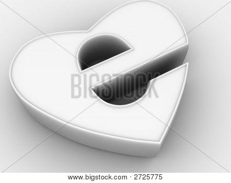 Symbol Of Internet As Heart 3D