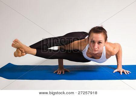yoga girl doing exercise. 88 of 116 poster