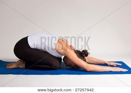 yoga girl doing exercise. 95 of 116 poster