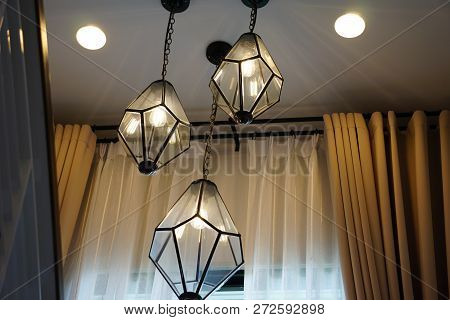 Black Lamp Post In The Home, Shining In The House