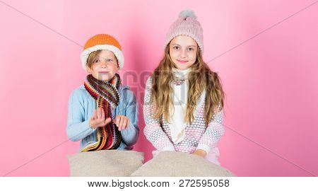 Stay Warm And Comfortable. Warm Up Your Winter Wear With Cute And Cozy Accessories. Siblings Wear Wi