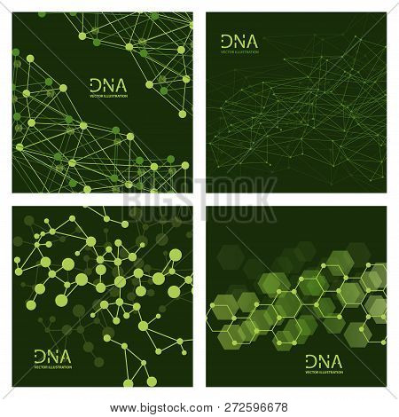 Scientific Vector Illustration Genetic Engineering And Biotechnology Concept. Dna Helix, Dna Strand,