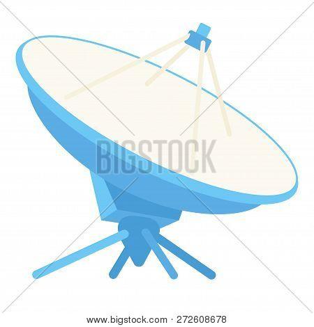 Cartoon Radar Antena. Science Navigational Equipment. Media Theme Vector Illustration For Icon, Logo