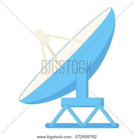 Cartoon Satellite Antena. Science Radar Equipment. Media Theme Vector Illustration For Icon, Logo, S