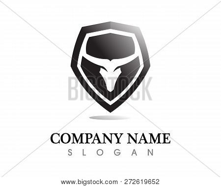 Bull Horn Logo Vector Photo Free Trial Bigstock