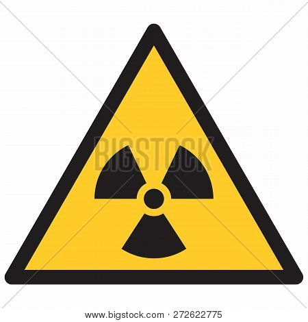 Illustration Of An Isolated Radiation Hazard Symbol