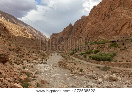 Todgha Gorge, A Canyon In The High Atlas Mountains In Morocco, Near The Town Of Tinerhir, Africa