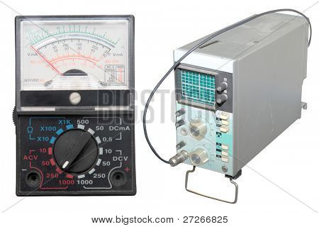 electrical diagnostic devices under the white background