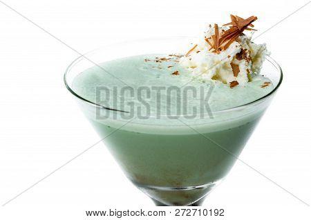 Grasshopper Cocktail Over White