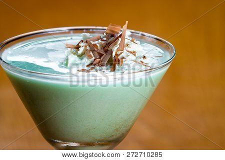 Grasshopper Cocktail In A Martini Glass