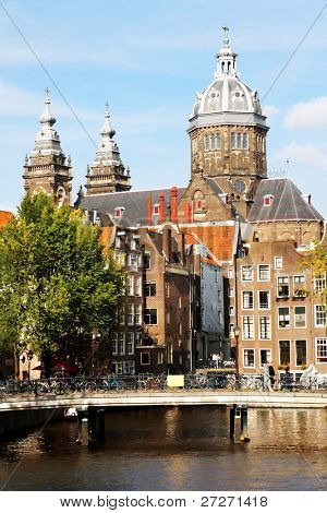 Urban landscape in Amsterdam, theNetherlands