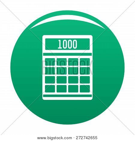 Tax Calculator Icon. Simple Illustration Of Tax Calculator Icon For Any Design Green