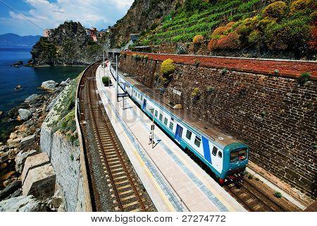Manarola Railwaystation, Cinque Terre, Italy