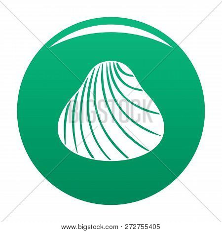 Hard Shell Icon. Simple Illustration Of Hard Shell Icon For Any Design Green