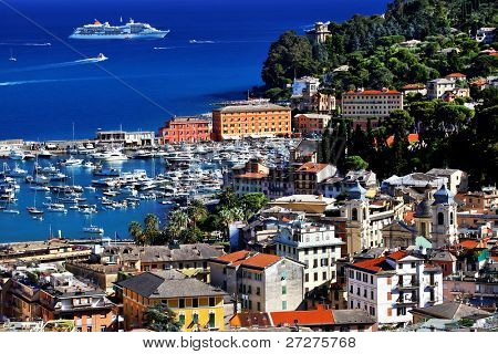 Santa Margherita Ligure Resort on the Italian Riviera, Europe poster