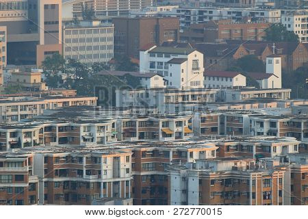 A City Scape Of Middle Kowloon At Kowloon Tong