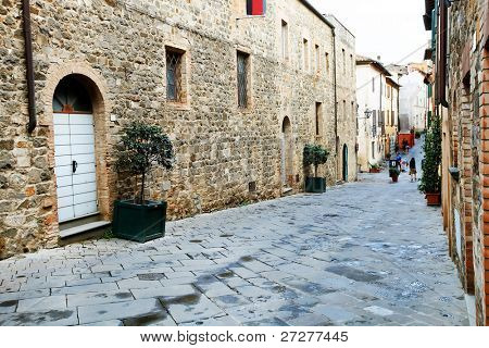 Architectural detail in Montalcino, Tuscany, Italy