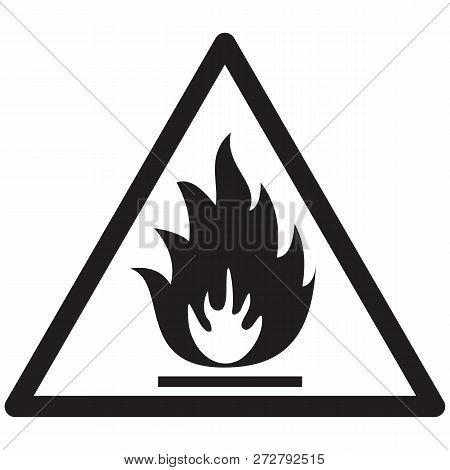 Illustration Of An Isolated Flammable Hazard Symbol