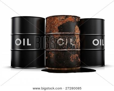 Leaking Oil Drum