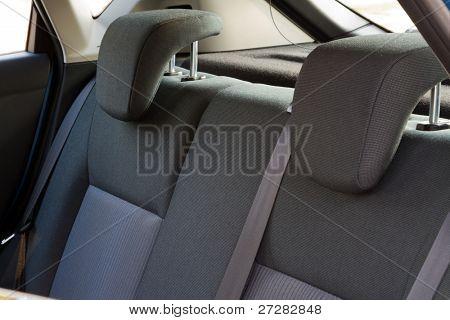 Car interior - back car seats with active headrest