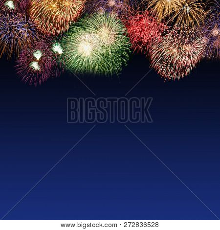 New Year's Eve Fireworks Copyspace Copy Space Square Years Year Firework