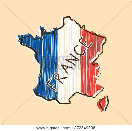 Map Of France Cartoon.France Map Flag Vector Photo Free Trial Bigstock