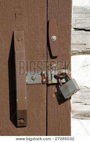 Log House Door Detail