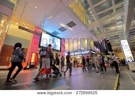 Kuala Lumpur Malaysia - November 19, 2018: Unidentified People Visit Fahrenheit 88 Shopping Mall In
