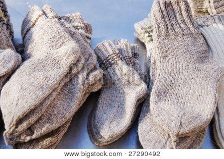 traditional handimade socks, Bucharest's fair
