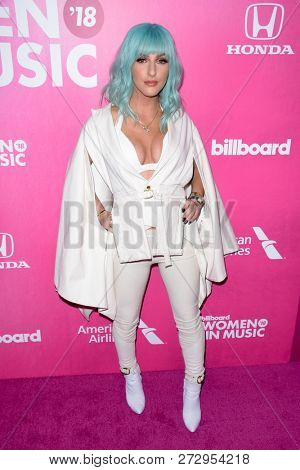 NEW YORK - DEC 6: Njomza attends Billboard's 13th Annual Women in Music event on December 6, 2018 at Pier 36 in New York City.