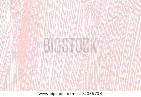 Grunge Texture. Distress Pink Rough Trace. Glamorous Background. Noise Dirty Grunge Texture. Valuabl