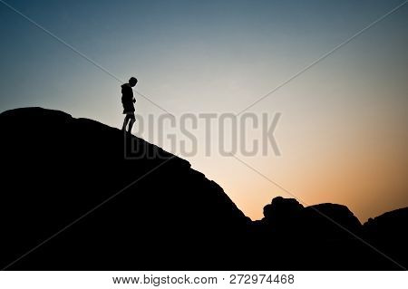 Unseen Sunset At Rock Holes Stone View Sam Pan Bok Grand Canyon, Ubon Ratchathani, Northeast Of Thai