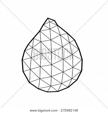 Polygonal Salak, Salacca Or Zalacca  Fruit Illustration, Low Poly Art, Isolated On White Background