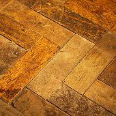 Old style vintage wood parquet floor texture poster