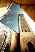 Hassan II Mosque, Casablanca, Morocco, Africa poster
