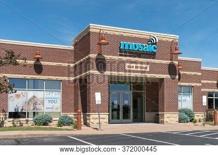 Mosaic Telecom Headquarters Exterior And Trademark Logo