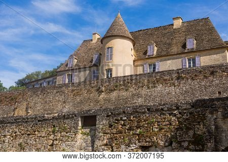 Dordogne, France - August 16, 2019: The Castle of the gardens of the Jardins de Marqueyssac in the Dordogne region of France
