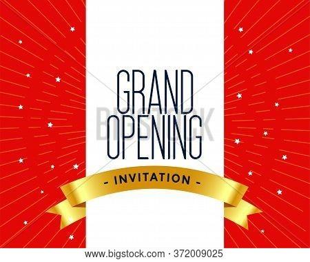 Grand Opening Invitation Card Template Vector Design Illustration