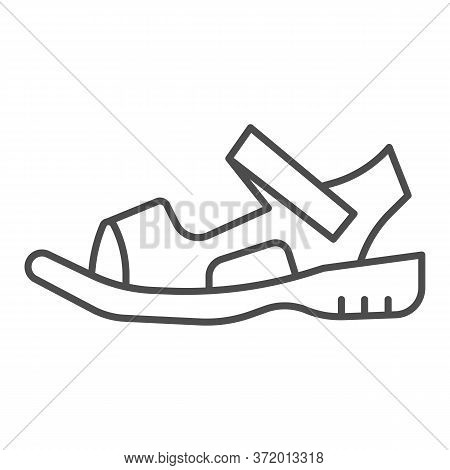 Sandals Thin Line Icon, Summer Shoes Concept, Sandal Sign On White Background, Light Summer Shoe Ico
