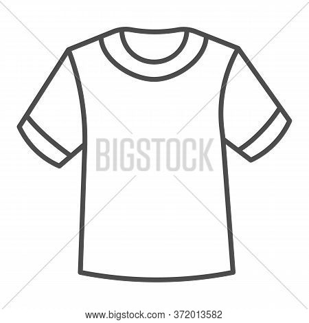 T-shirt Thin Line Icon, Summer Clothes Concept, Unisex Shirt Sign On White Background, Casual T-shir