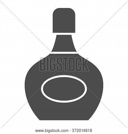 Liqueur Bottle Solid Icon, Alcohol Drinks Concept, Bottle Of Liqueur Sign On White Background, Alcoh