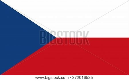 Czech Republic Flag, Official Colors And Proportion Correctly. National Czech Republic Flag. Vector