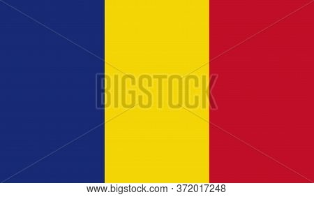 Romanian Flag, Official Colors And Proportion Correctly. National Romanian Flag. Vector Illustration