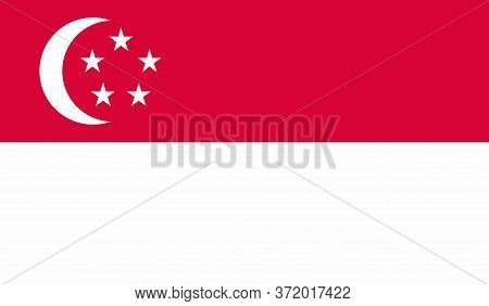 Singapore Flag, Official Colors And Proportion Correctly. National Singapore Flag. Vector Illustrati