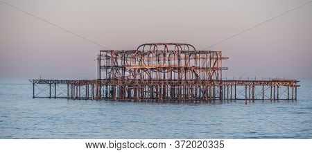 The Remains Of Former Brighton Pier - Travel Photography