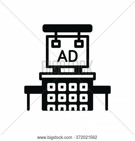 Black Solid Icon For Advertising Advertisement Blurb Reclame Notification Billboard
