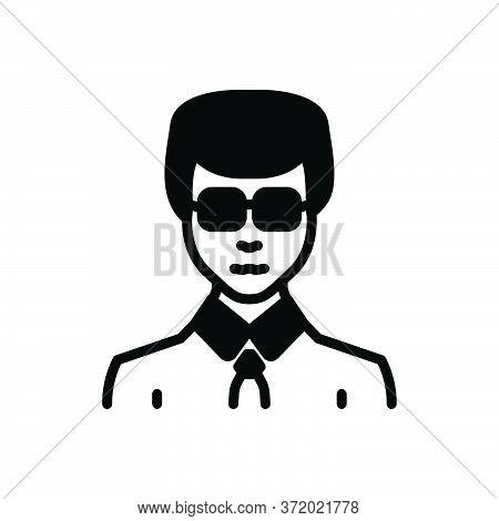 Black Solid Icon For Businessman Entrepreneur Enterprising Zippy Vocational Sappy