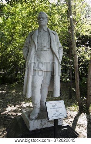 Kazakhstan, Ust-kamenogorsk - 21 May, 2020. Sergei Kirov Monument In The Park.