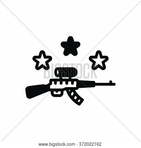 Black Solid Icon For Gun Musket Pea-shooter Weapon Pistol